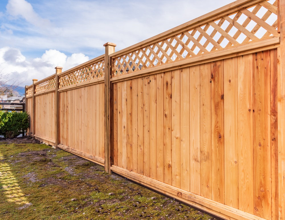 Fence,Built,From,Wood.,Outdoor,Landscape.,Security,And,Privacy,Concept.